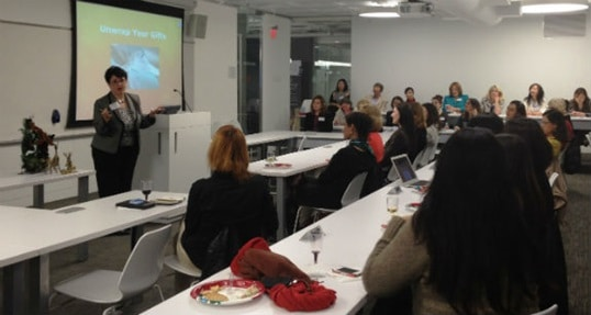 Bay Area women MBAs mix and mingle with Hult students at charitable holiday event