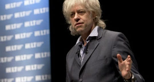 """Hult Business: Bob Geldof encourages young entrepreneurs to """"make a difference"""" [The Upcoming]"""