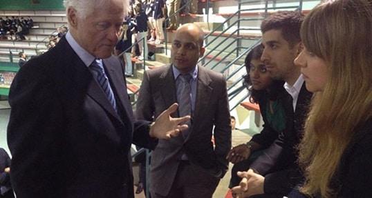 Hult students attend CGI U, Meet President Clinton