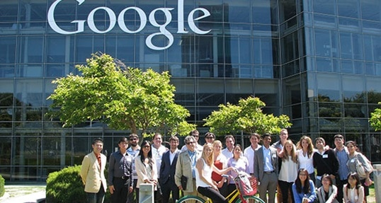 Good company: Hult students get a glimpse inside Google during campus tour
