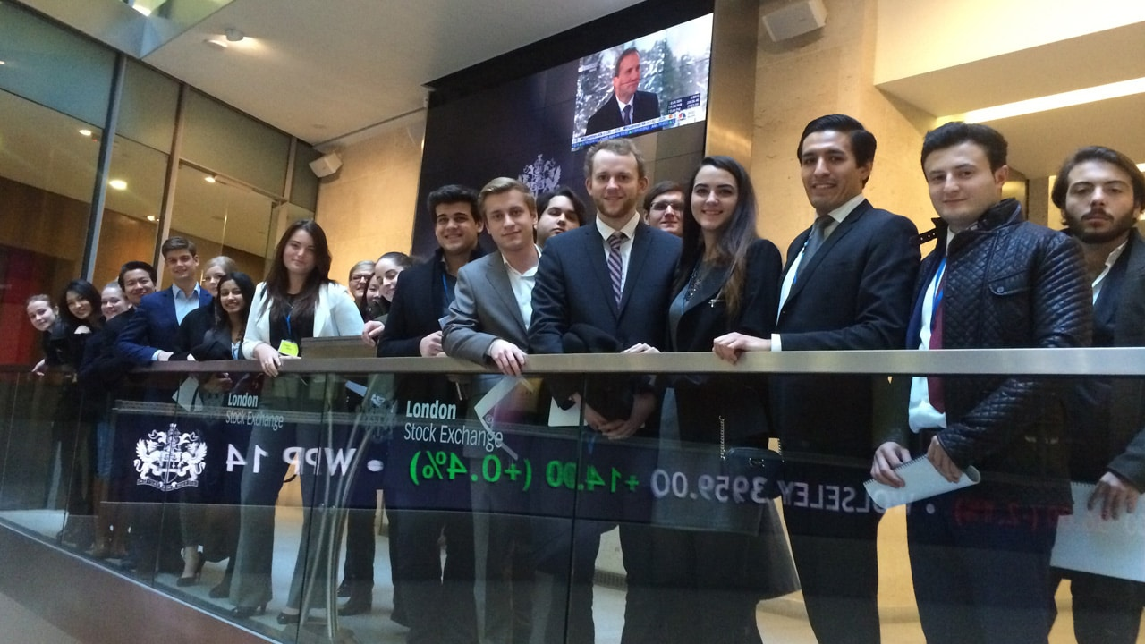 Hult Bachelor degree students visit the London Stock Exchange