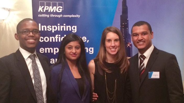 Hult Dubaie students at the KPMG Ace the Case Challenge