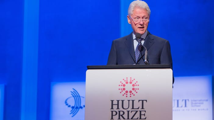 Former US President Bill Clinton at the Hult Prize