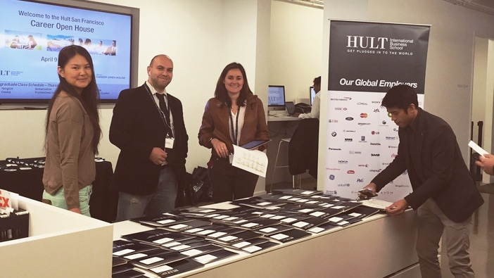 Hult San Francisco students at the annual Career Open House