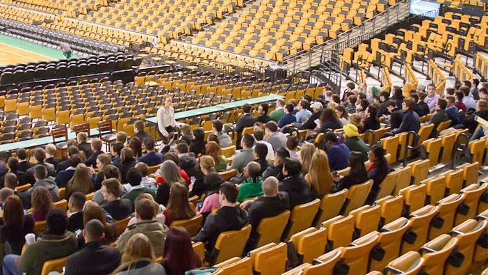 Hult Boston visits the Celtics