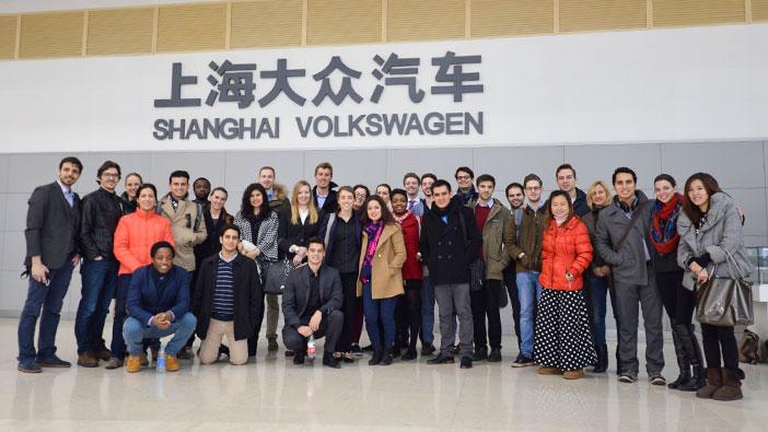 Hult Shanghai students visit Volkswagen