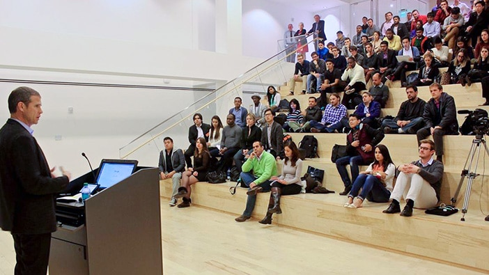 Boston Celtics boss and other global leaders talk to Hult students