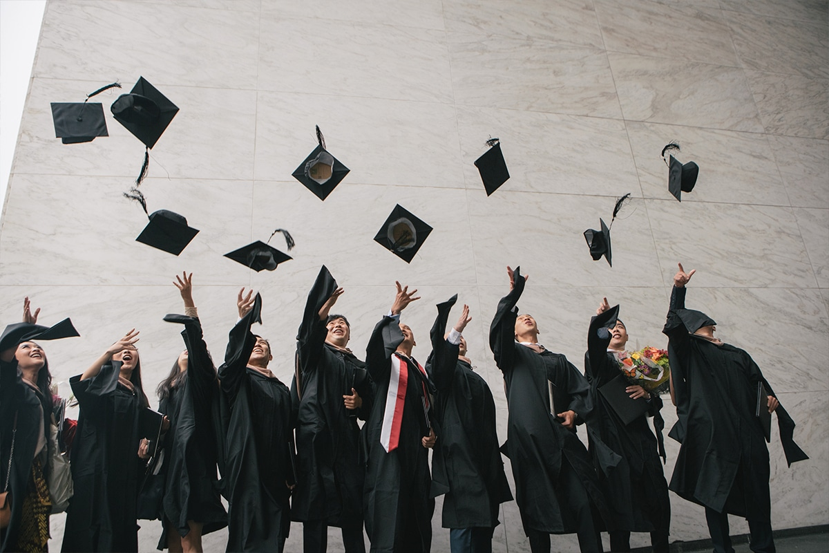 Why you should go to business school students graduate