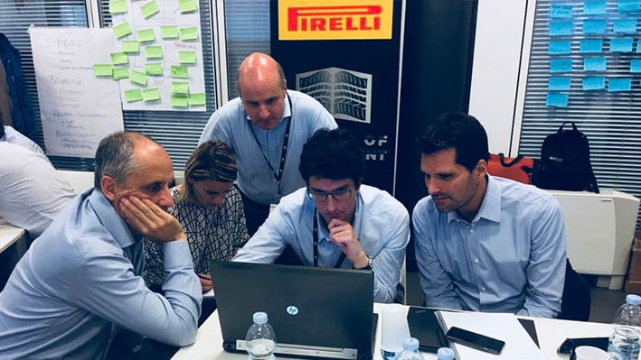 Pirelli Executives in action at the Innovation Workshop of Professor Mike Grandinetti