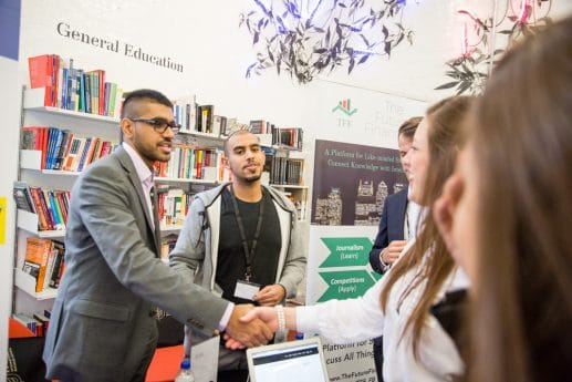 Hult students at career connections forum