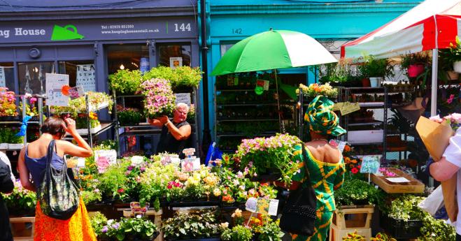 London's markets : Coloumbia road