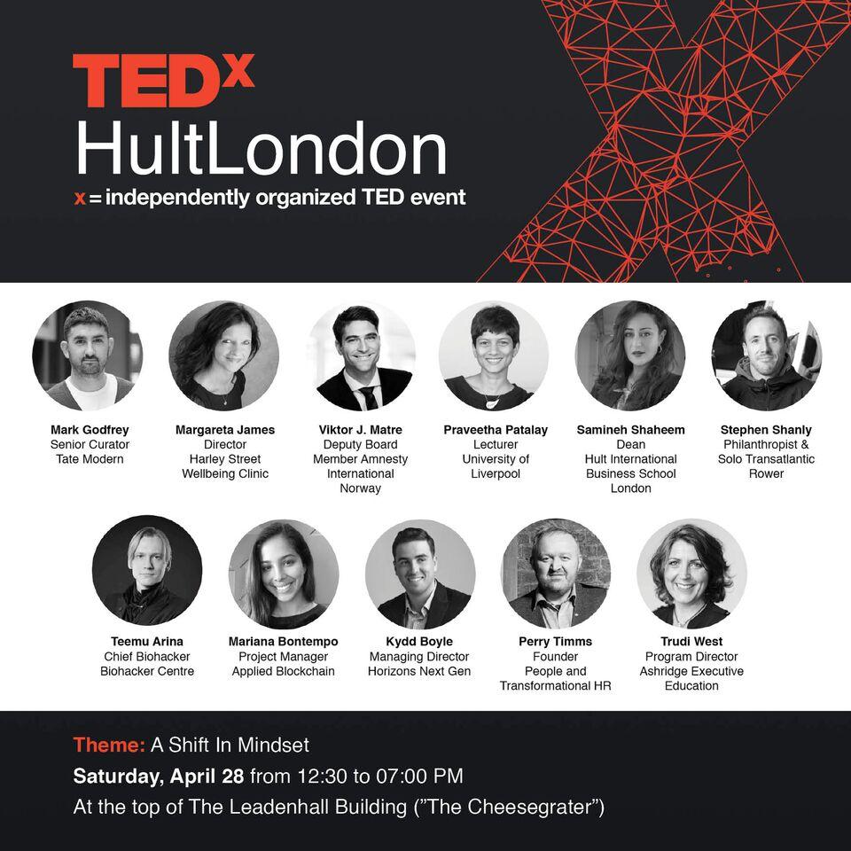 TEDxHultLondon Speaker Flyer