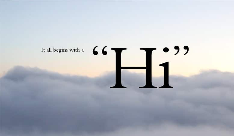 Introduce yourself and say #HiHult