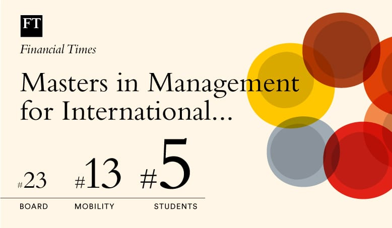 FT Masters in Management 2019 ranking