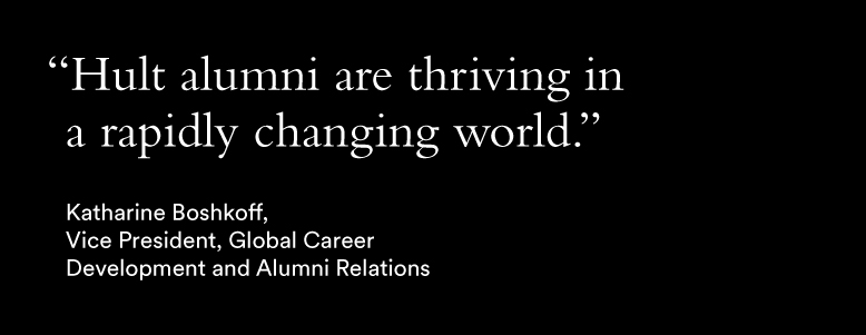 Katharine Boshkoff Hult Alumni Magazine quote
