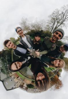 Maria and friends in Cambridge