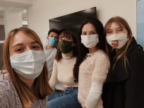 Masks on group work