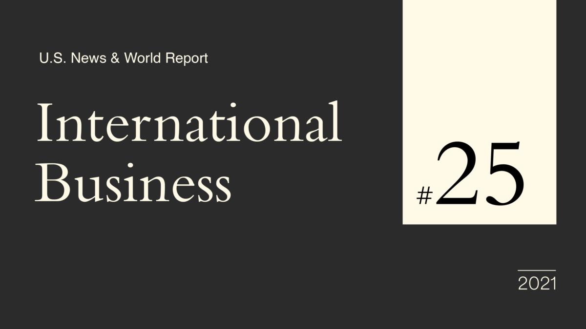 U.S. World & News Report Ranks Hult #25